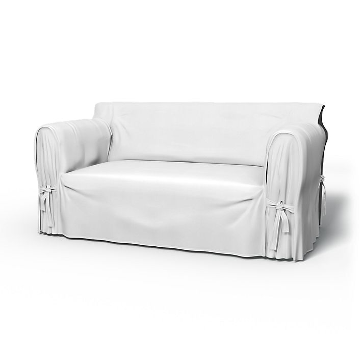 Multi Fit, Sofa Covers, 2 Seater using the fabric Simply Cotton Silver Grey