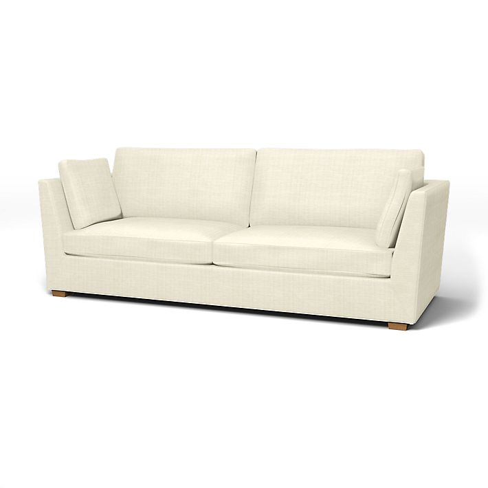 Stockholm, Sofa Covers, 3.5 Seater, Regular Fit using the fabric Brunna Melange Sand Beige
