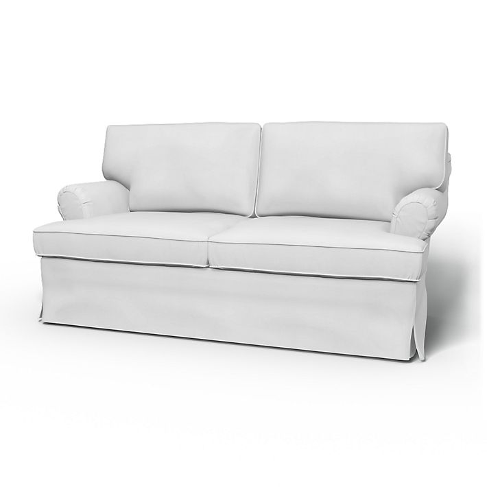 Stockholm  (older model), Sofa Covers, 2 Seater, Regular Fit using the fabric Simply Cotton Silver Grey