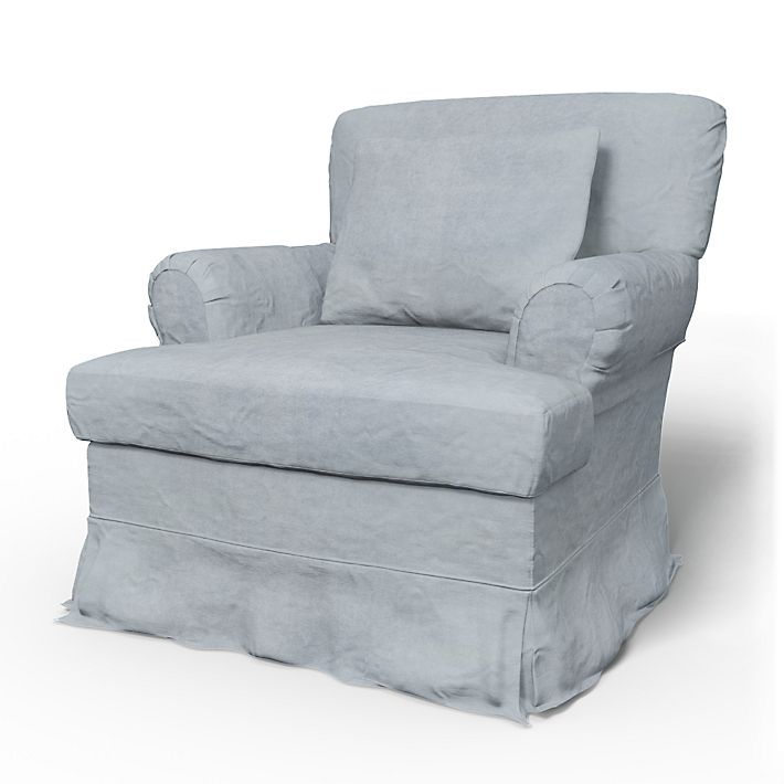 Stockholm  (older model), Armchair Covers, Armchair, Loose Fit using the fabric Simply Velvet  Silver Grey