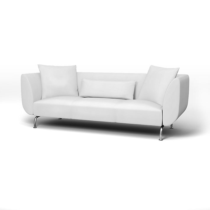 Strömstad, Sofa Covers, 3 Seater, Regular Fit using the fabric Simply Cotton Silver Grey