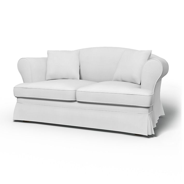 Sundborn, Sofa Covers, 2 Seater, Regular Fit using the fabric Simply Cotton Silver Grey