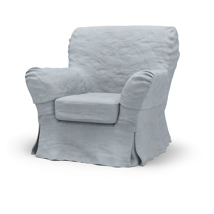Tomelilla, Armchair Covers, High Back, Loose Fit using the fabric Simply Velvet  Silver Grey