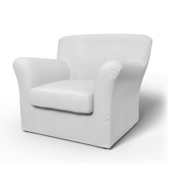 Tomelilla, Armchair Covers, Low Back, Regular Fit using the fabric Simply Cotton Silver Grey