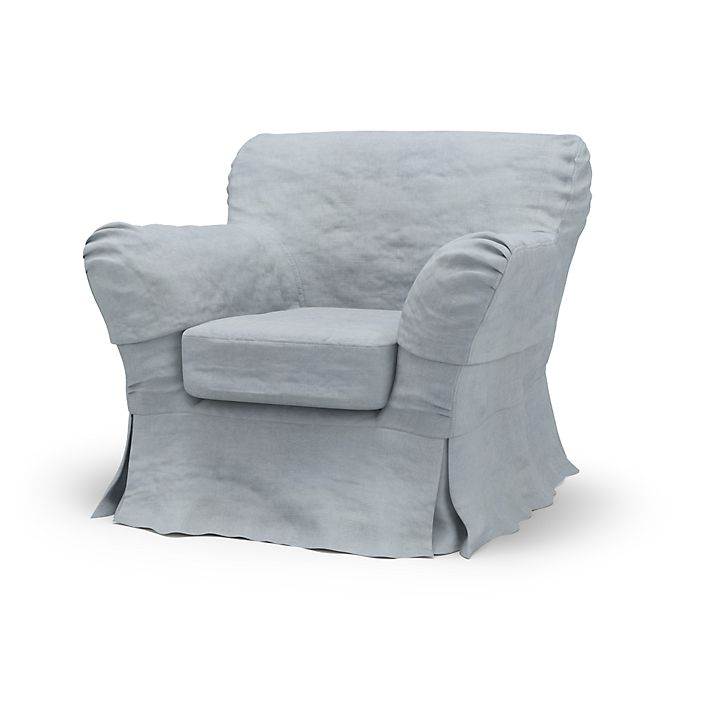 Tomelilla, Armchair Covers, Low Back, Loose Fit using the fabric Simply Velvet  Silver Grey