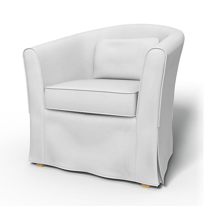 Tullsta, Armchair Covers, Armchair, Regular Fit using the fabric Simply Cotton Silver Grey