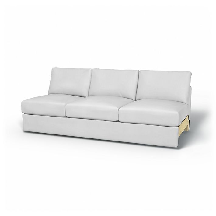 Vimle, Sofa Covers, 3 Seater Section, Regular Fit using the fabric Simply Cotton Silver Grey